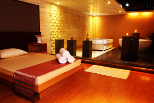 full service massage room at 18 sauna macau