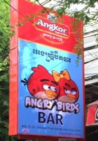 Review of Angry Birds hostess bar in Phnom Penh Cambodia