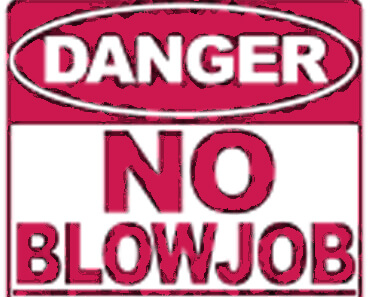 No blowjob sign