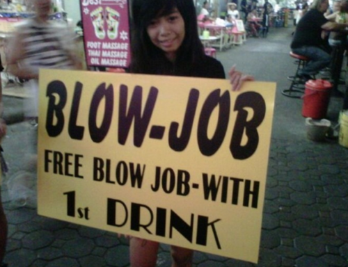 how much cash for a blowjob